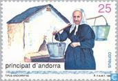 Postage Stamps - Andorra - Spanish - People of Andorra