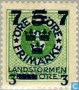 Timbres-poste - Suède [SWE] - 5 juillet # 3 + # 5 vertes FEM