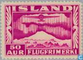 Postage Stamps - Iceland - 50 pink