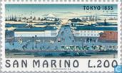 Timbres-poste - Saint-Marin - Famous-villes de Tokyo