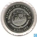 "Monnaies - Liberia - Libéria 5 dollars 2000 ""Europe"""