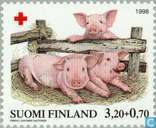 Postage Stamps - Finland - 320 70 multi-colored / pink