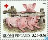 Briefmarken - Finnland - 320 70 mehrfarbigen / pink