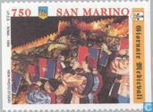 Briefmarken - San Marino - Mittelalter