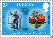 Briefmarken - Jersey - 100 Jahre UPU