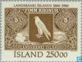 Postzegels - IJsland - Bank 1886-1986