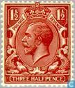 Briefmarken - Großbritannien [GBR] - George V - Wasserzeichen Druckbuchstaben