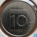 Coins - the Netherlands - Netherlands 10 cents 1986