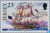 Timbres-poste - Jersey - Expédié Jersey avec le nom