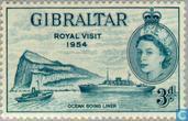 Postage Stamps - Gibraltar - Visit Queen Elizabeth II