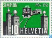 Postage Stamps - Switzerland [CHE] - Simplon Tunnel 50 years