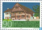 Timbres-poste - Liechtenstein - Bâtiments Schellenberg