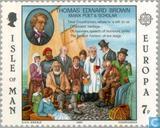 Postzegels - Man - Europa – Beroemdheden