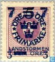 Timbres-poste - Suède [SWE] - 7 +3 # 5 + # 6 violet FEM