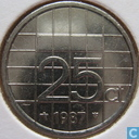 Coins - the Netherlands - Netherlands 25 cents 1987