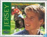 Postzegels - Jersey - Prins William- Verjaardag 18 jaar