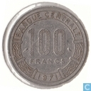 Central African Republic 100 francs 1971