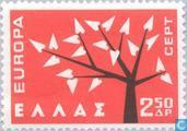 Postage Stamps - Greece - Europe – Tree with 19 Leaves