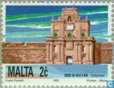Postage Stamps - Malta - City gate of Valletta
