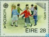 Postzegels - Ierland - Europa – Kinderspelen