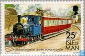 Timbres-poste - Man - Tram et le rail
