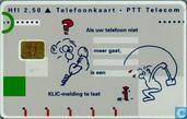 PTT Telecom KLIC, als uw telefoon niet meer gaat