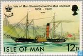 Postage Stamps - Man - Post Boats 1832-1982