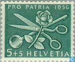 Timbres-poste - Suisse [CHE] - Symboles de travail des femmes