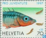 Postzegels - Zwitserland [CHE] - Dieren in en om het water
