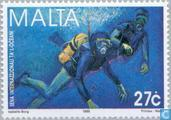 Postage Stamps - Malta - Int. Year of the Ocean