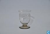 Glas / kristal - Kristalunie - Macon voetbeker klein blank met fumi