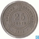 Brits-Honduras 25 cents 1973