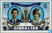 Postage Stamps - Gibraltar - Wedding Prince Charles and Diana