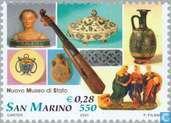 Briefmarken - San Marino - Landesmuseum