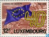 Postzegels - Luxemburg - 40 jaar Raad van Europa