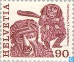 Postage Stamps - Switzerland [CHE] - Folklore