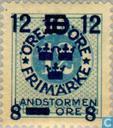 Timbres-poste - Suède [SWE] - 12 8 # 10 + # 12 TIO Blue