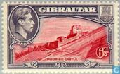 Timbres-poste - Gibraltar - George VI, Paysages