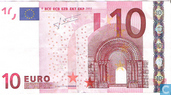 Banknotes - Trichet (2004) printed by Bundesdruckerei (Germany - Berlin) in order of Duitsland - 10 euro RXT