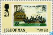 Postage Stamps - Man - Bounty Mutiny 1789-1989