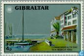 Postage Stamps - Gibraltar - Commonwealth day