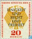 Briefmarken - Berlin - 3. Deutscher Bundestag