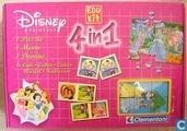 Board games - Memo (memory) - Disney Princess  -  4 spellen in 1