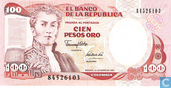 Banknotes - Colombia - 1982-1992 Issue - Colombia 100 Pesos Oro 1991 (P426e2)