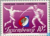 Postzegels - Luxemburg - Vereniging schermsport 50 jaar