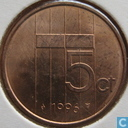 Coins - the Netherlands - Netherlands 5 cents 1996