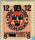 Timbres-poste - Suède [SWE] - 8 12 # 10 # 20 + TIO rouge