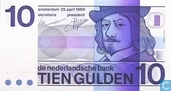 Netherlands 10 Gulden 1968
