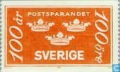 Timbres-poste - Suède [SWE] - 100 orange