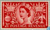 Postage Stamps - Great Britain [GBR] - Coronation of Queen Elizabeth II